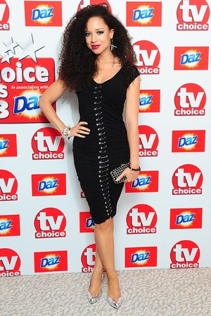 Natalie Gumede arriving for the 2013 TV Choice awards at the Dorchester Hotel, London.