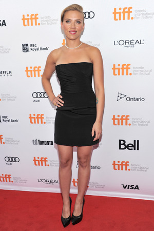 "Scarlett Johansson arrive at the premiere of ""Don Jon"" on day 6 of the Toronto International Film Festival at The Princess of Wales"