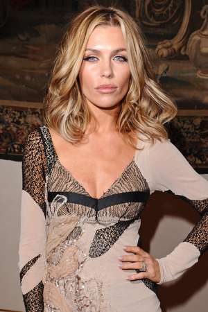 Abbey Clancy attends the Julien Macdonald show, Spring Summer