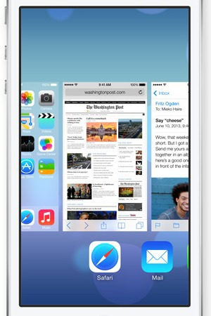 Apple iPhone iOS7 Multitasking