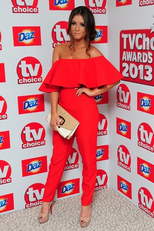 Brooke Vincent arriving for the 2013 TV Choice awards at the Dorchester Hotel, London.