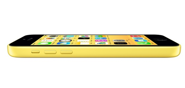 Apple iPhone 5C in yellow.
