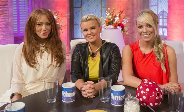 Kerry Katona and her Atomic Kitten bandmates on 'The Alan Titchmarsh Show'.