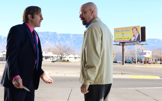 Breaking Bad S05E13: Saul Goodman (Bob Odenkirk) and Walter White (Bryan Cranston)