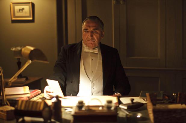 Jim Carter as Carson in Downton Abbey series 4.