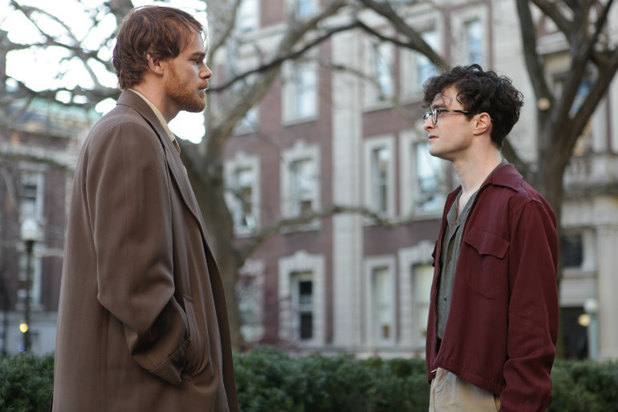 Michael C. Hall and Daniel Radcliffe in in 'Kill Your Darlings'