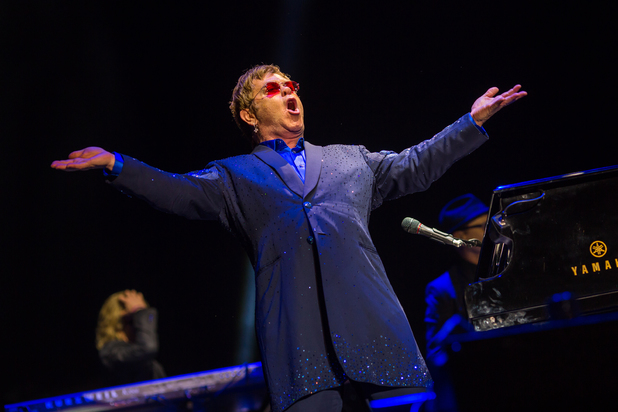 Elton John performs on Day 4 of Bestival 2013