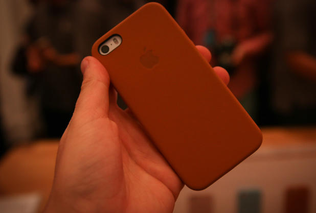 Apple iPhone 5S in a protective case