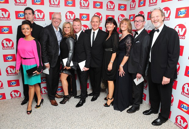 The cast of Mrs Brown's Boys arriving for the 2013 TV Choice awards at the Dorchester Hotel, London.