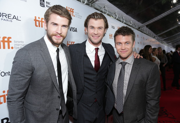 'Rush' film premiere at the Toronto International Film Festival, Canada - 08 Sep 2013 Liam Hemsworth, Chris Hemsworth and Luke Hemsworth