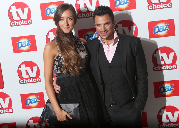 Peter Andre and Emily MacDonagh arriving for the 2013 TV Choice awards at the Dorchester Hotel, London.