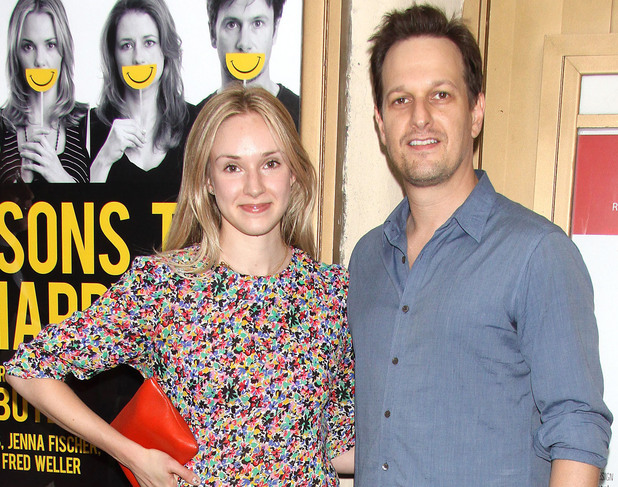 Sophie Flack and Josh Charles at the opening night of 'Reasons To Be Happy'