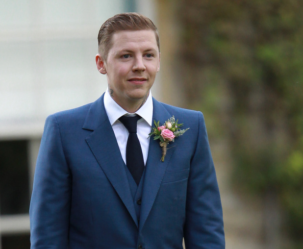 Stephen Paul Manderson aka Professor Green and Millie Mackintosh wedding ceremony held at Babington House in Bath.
