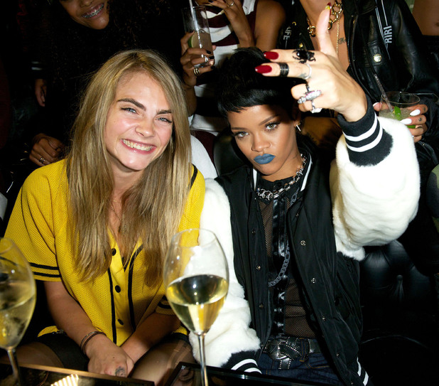 Cara Delevingne and Rihanna