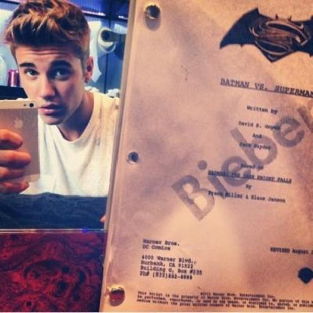 Justin Bieber and Batman/Superman script