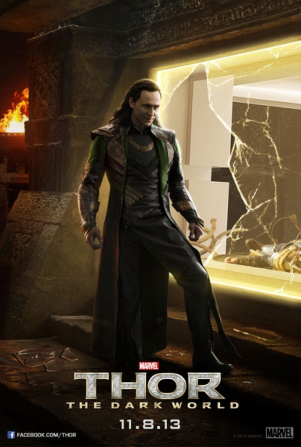Tom Hiddleston in 'Thor: The Dark World' poster