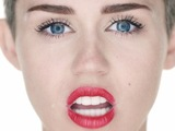 Miley Cyrus 'Wrecking Ball' video still.