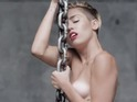 Miley Cyrus naked in the 'Wrecking Ball' video