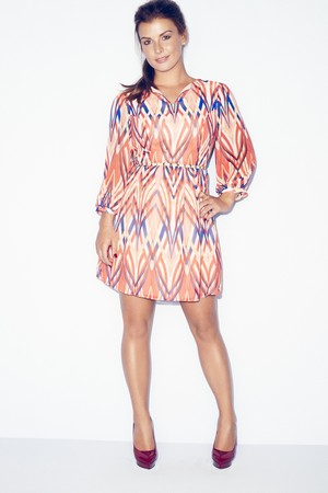 Coleen Rooney models her collection for Littlewoods