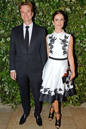 Global Fund Celebration, Spring Summer 2014, London Fashion Week, Britain - 16 Sep 2013 Colin Firth and Livia Giuggioli 16 Sep 2013