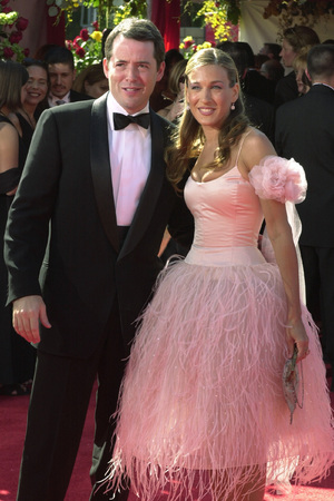 Matthew Broderick and his wife Sarah Jessica Parker arrive at the 52nd Annual Primetime Emmy Awards at the Shrine Auditorium in Los Angeles, Sunday, Sept. 10, 2000.