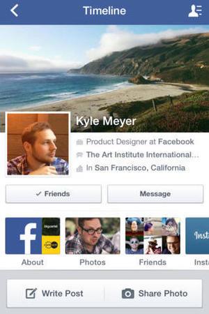 'Facebook' app screengrab.