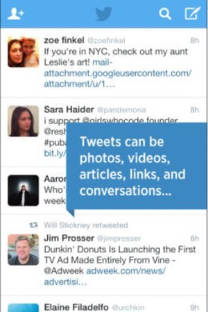 'Twitter' app screengrab.