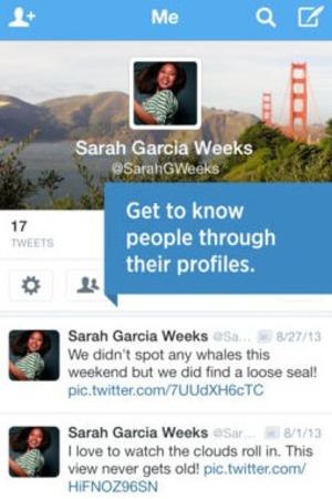 'Twitter' app screengrab.