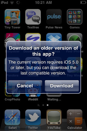 Apple iOS 'last compatible version'