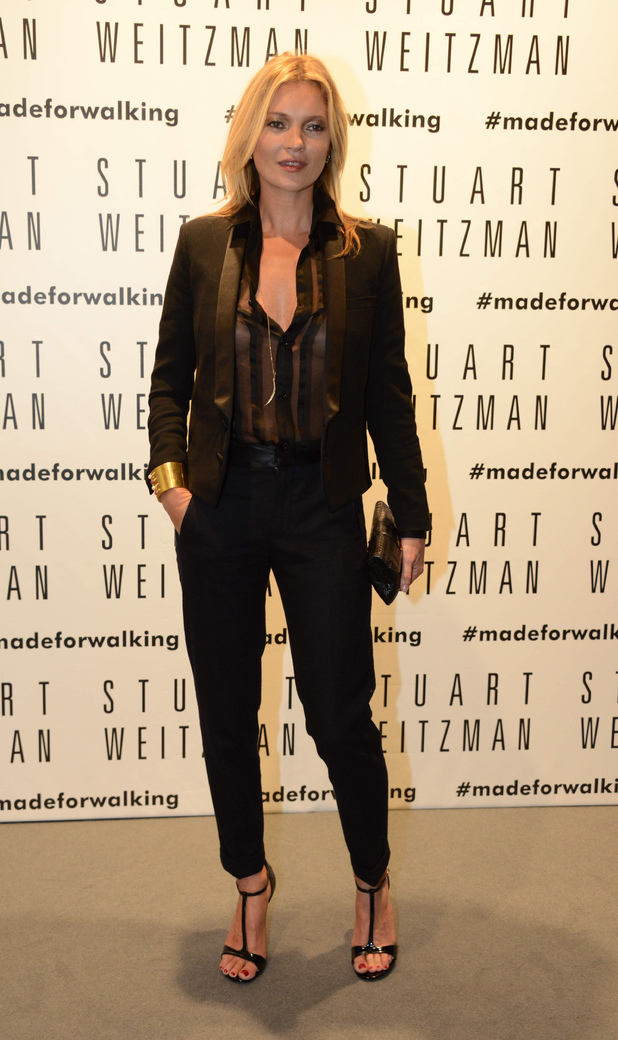 Kate Moss visits the Stuart Weitzman Flagship Store Opening
