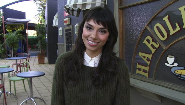 Amali Ward on set at Neighbours