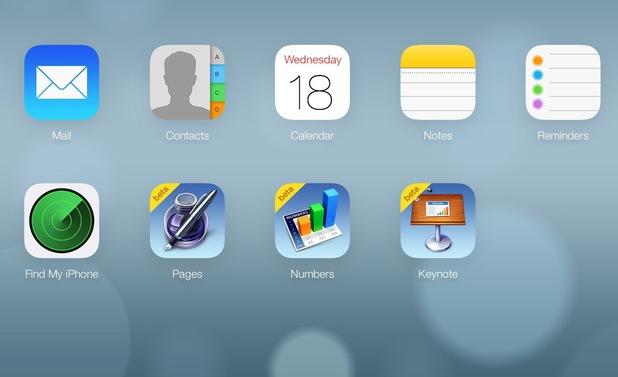 iCloud website redesign