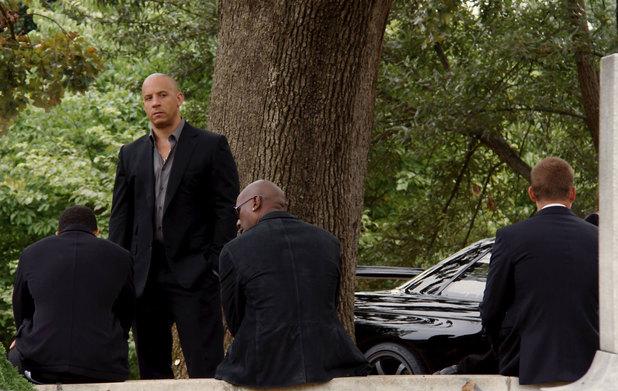 Fast & Furious 7 funeral scene