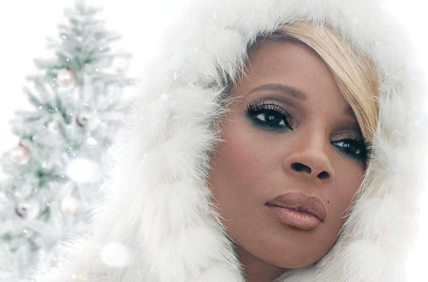 Mary J Blige 'A Mary Christmas' artwork.