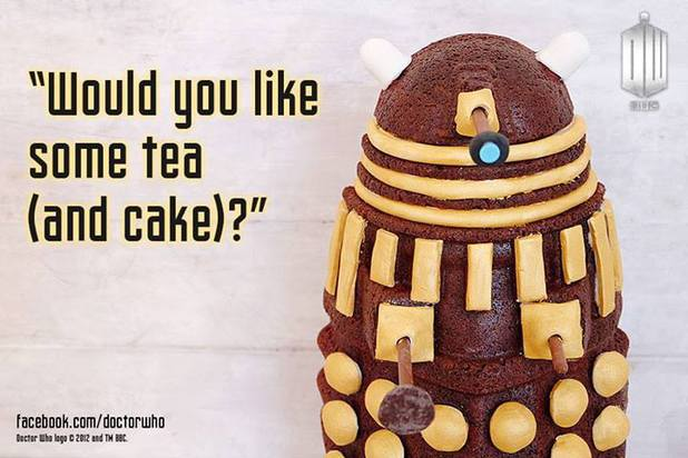 Doctor Who Dalek cake