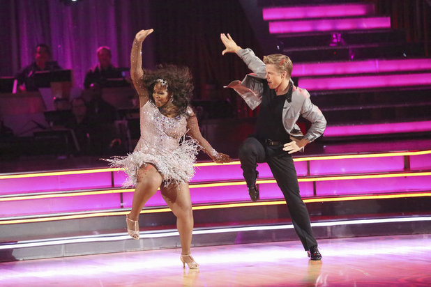 Dancing With The Stars Fall 2013, episode1: Amber Riley and Derek Hough