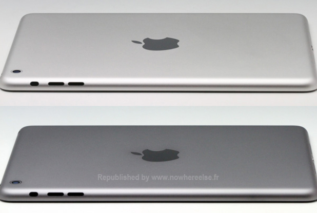 Purported photograph of the iPad mini 2 in space grey