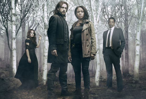 Katia Winters, Tom Mison, Nicole Beharie and Orlando Jones in 'Sleepy Hollow'