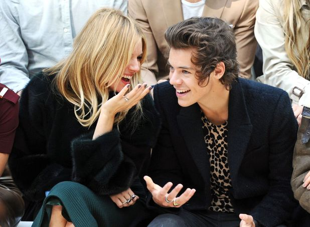 Sienna Miller, Harry Styles, Burberry Prorsum show, Spring Summer 2014, London Fashion Week, Britain - 16 Sep 2013