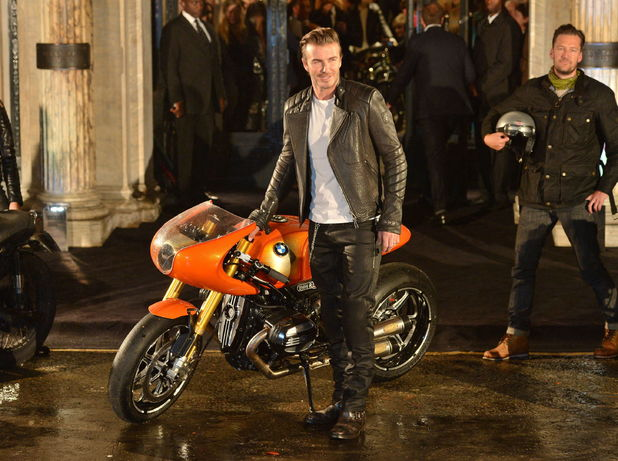 David Beckham photocall for the opening of Belstaff House, New Bond Street, during London Fashion Week. Picture date: Sunday September 15, 2013.