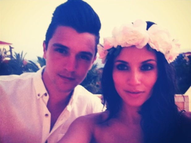 Union J's JJ Hamblett with girlfriend Caterina Lopez.