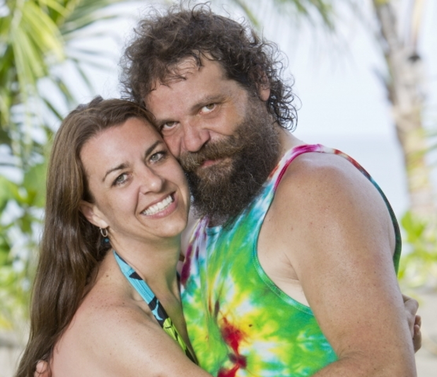 'Survivor: Blood vs Water: Rupert Boneham and Laura Boneham
