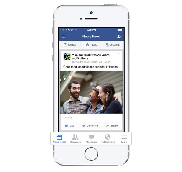Facebook on iOS7