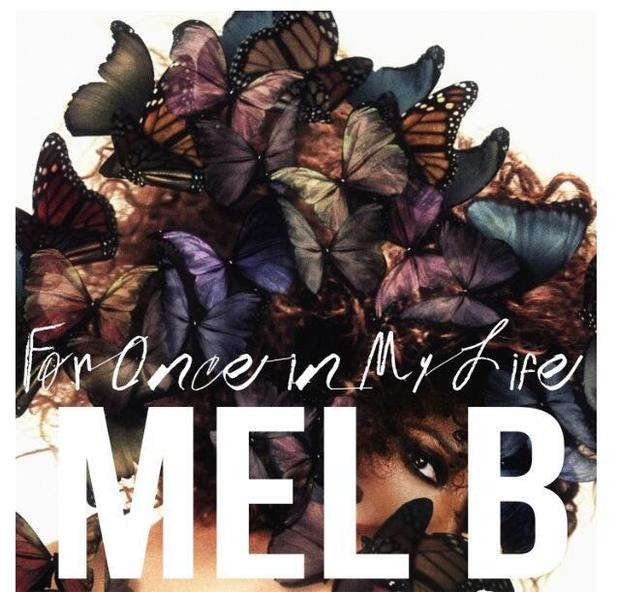 Mel B 'For Once In My Life' single artwork.