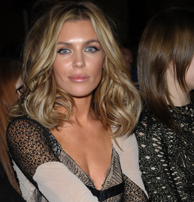 Abbey Clancy, London Fashion Week SS14 - Julien Macdonald - Front Row