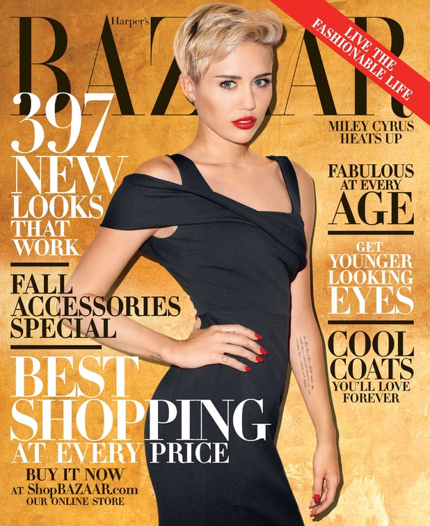 Miley Cyrus poses for Harper's Bazaar