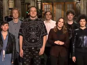 Tina Fey, Arcade Fire promote 'SNL'