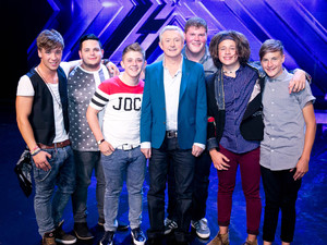The X Factor Boys with Louis Walsh