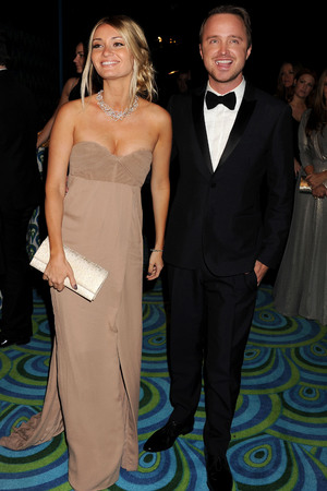 Aaron Paul and Lauren Parsekian The 65th Annual Primetime Emmy Awards, HBO Emmy Party, Los Angeles, America - 22 Sep 2013