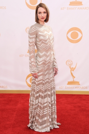 Kristen Connolly arrives at the 65th Emmy Awards in Los Angeles